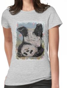 Panda Headstand Womens Fitted T-Shirt