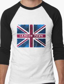 Camden Town Union Jack British Flag Men's Baseball ¾ T-Shirt