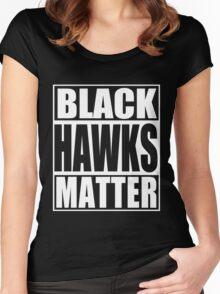Black Hawks Matter Women's Fitted Scoop T-Shirt