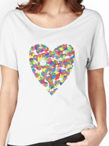 New Town #2 (Colour/Heart) Women's Relaxed Fit T-Shirt