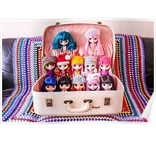 A vintage suitcase of Blythes Poster