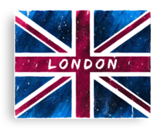 London British Union Jack Flag Canvas Print