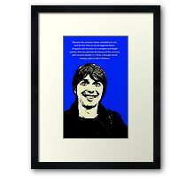 Brian Cox Christmas Framed Print