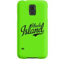 Rhode Island Script Black Samsung Galaxy Case/Skin