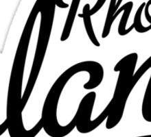 Rhode Island Script Black Sticker