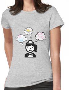 Waitress Sugar Butter Flour Womens Fitted T-Shirt