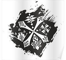 Guild Hunters Logo Splat Poster