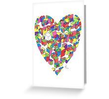 New Town #2 (Colour/Heart) Greeting Card