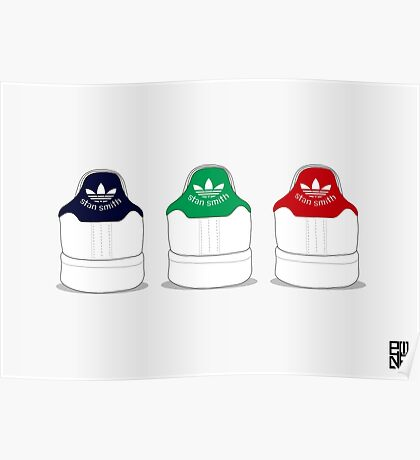 stan smith illustration 3 colors. #2 Poster