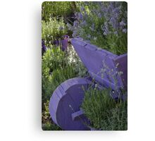 wheelbarrow with lavender Canvas Print