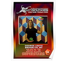 George Leutz Q*Bert Rookie Card Poster