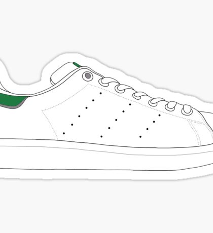 stan smith illustration Green. Sticker