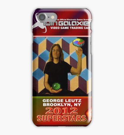 George Leutz Q*Bert Rookie Card iPhone Case/Skin