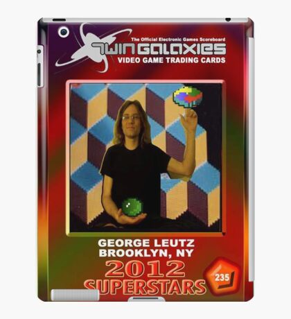 George Leutz Q*Bert Rookie Card iPad Case/Skin