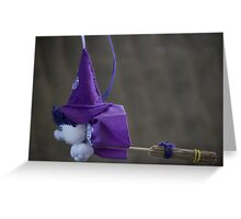 witch on broom Greeting Card