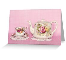 Anyone for tea? Greeting Card