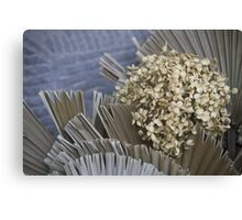 handmade paper flowers Canvas Print