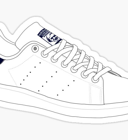 stan smith  illustration Blue pair. Sticker