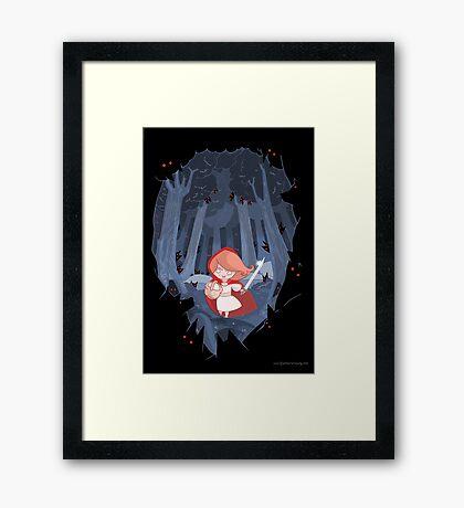 Little Red Fighting Hood Framed Print