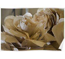 handmade paper flowers Poster