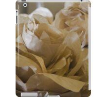 handmade paper flowers iPad Case/Skin