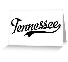 Tennessee Script Black Greeting Card