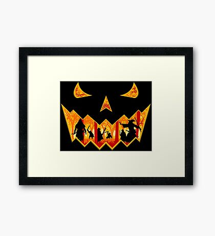Pumpkin of the Rings Framed Print