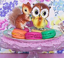 The owl and the squirrel ~ portrait version by Zoe Power