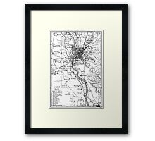 Vintage Map of Cairo Egypt (1911) Framed Print