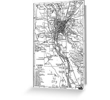 Vintage Map of Cairo Egypt (1911) Greeting Card
