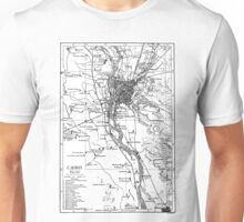 Vintage Map of Cairo Egypt (1911) Unisex T-Shirt