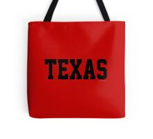 Texas Jersey Black Tote Bag