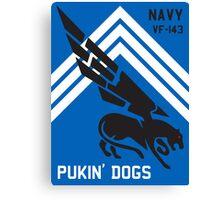 VF-143 Pukin Dogs Sans Reproache           Canvas Print