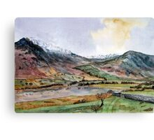 """Where the Snow Never Leaves"" The Lake District, Cumbria Canvas Print"
