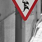 Danger! waiters crossing by Paul Pasco