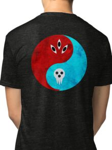 soul eater- yin yang version 2 Tri-blend T-Shirt