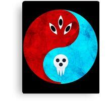 soul eater- yin yang version 2 Canvas Print