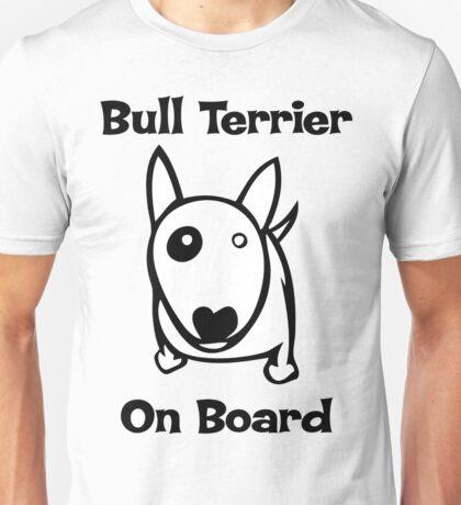 Bully on Board bull terrier Unisex T-Shirt