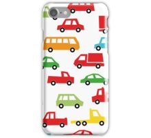 toy car pattern - automobile illustration iPhone Case/Skin