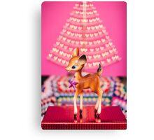 Christmas Bambi Canvas Print