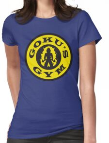 Goku's Gym (Round Gold's Gym Logo Parody) Womens Fitted T-Shirt