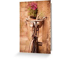 Flower bicycle @ The Vaults Cafe, Oxford Greeting Card