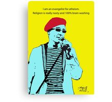Captain Sensible Atheism Canvas Print
