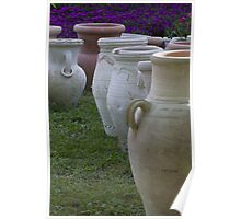 pots in the garden Poster