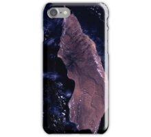 Socotra Island Yemen Arabian Sea Satellite Image iPhone Case/Skin