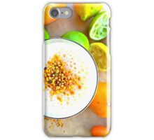Healthy Citrus Smoothie with Bee Pollen iPhone Case/Skin
