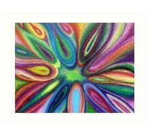 Exploding Colors Art Print
