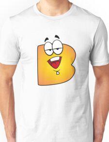 Alphabet Cartoon Letter B Personal Monogram Unisex T-Shirt