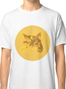 Colorful watercolor of cat Classic T-Shirt