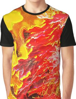 Abstract Autumn Leaves Graphic T-Shirt